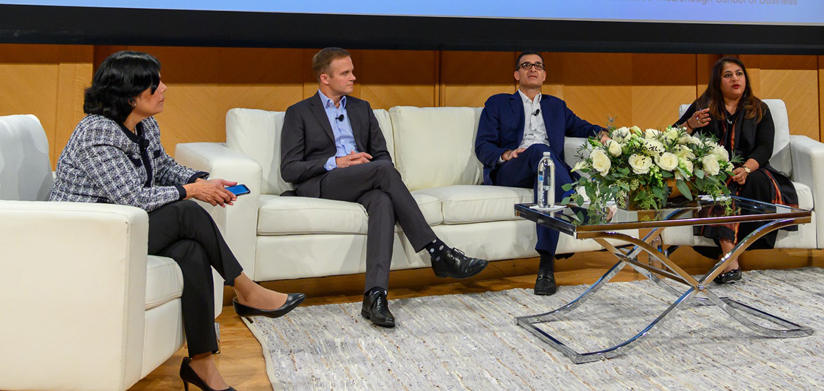 FMQ 2019 View from the Exchanges Panel: Reena Aggarwal (CFMP), Bryan Harkins (CBOE), Tal Cohen (Nasdaq), and Nandini Sukumar (WFE).
